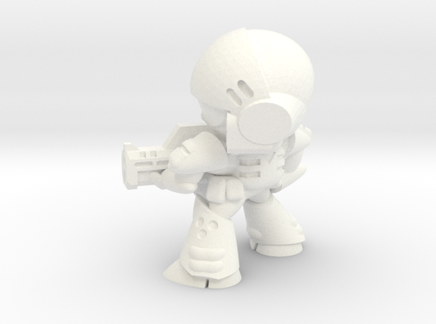 MERC SOLDIER-004 (FIRING) in White Processed Versatile Plastic