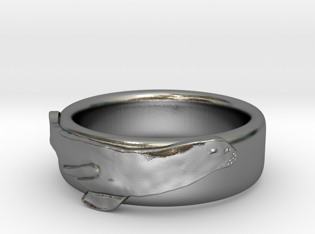 Sea Lion Ring - US Size 9 in Polished Silver