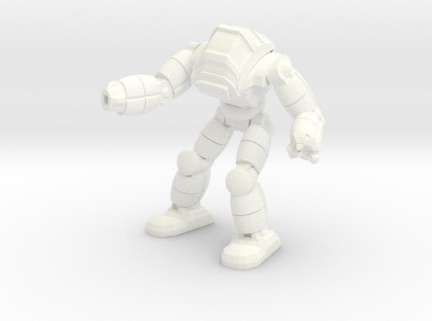 Neo Battlesuit Pose 2 in White Processed Versatile Plastic