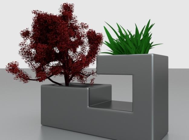 Steel Planter 3d printed render 2