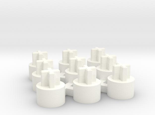 ALPS Short Stem Adapter, set of 9 in White Processed Versatile Plastic