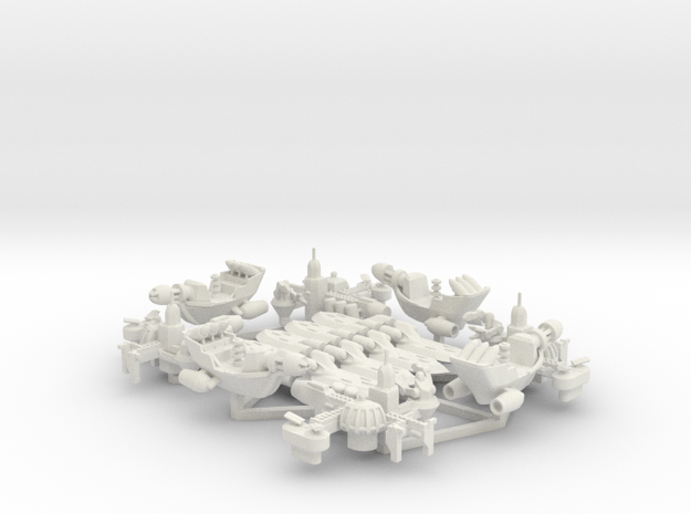 Rho Indi - Fleet Pack in White Natural Versatile Plastic