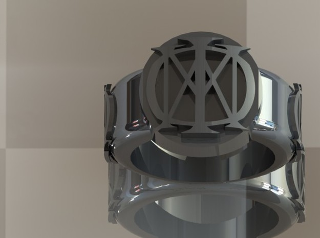 Majesty Dream Theater Ring (Size 9) 3d printed