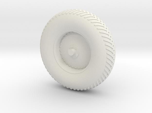 09B-LRV - Back Right Wheel in White Natural Versatile Plastic