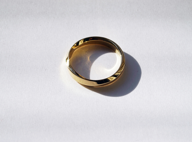 Mobius Ring Narrow Ring(Size 8) in 14k Rose Gold Plated