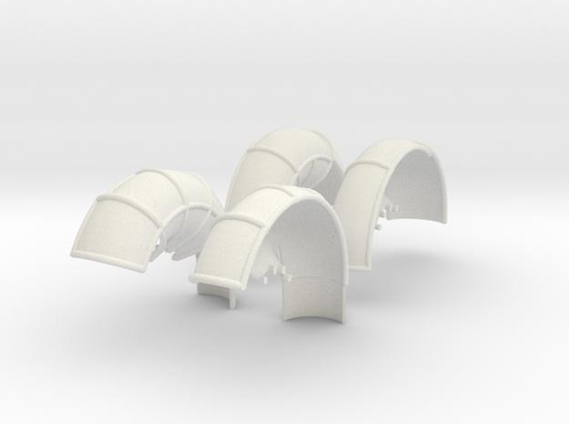 10A-LRV - Fenders in White Natural Versatile Plastic