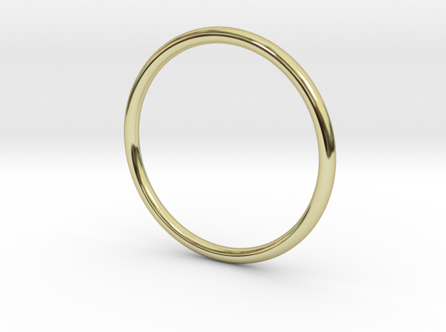 Jewellery - 1mm wire ring band in 18k Gold Plated