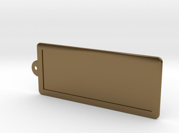 Custom Key Holder in Polished Bronze