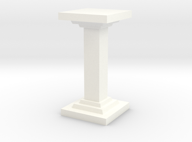 Square Pillar in White Strong & Flexible Polished