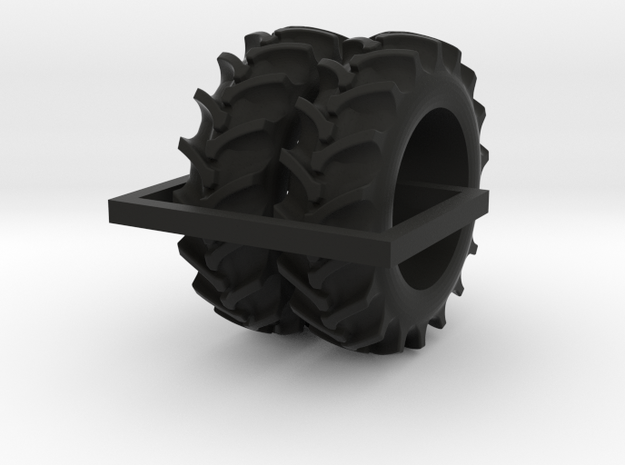 1/64 20.8-38 Rice and Cane tires - 1 pair in Black Natural Versatile Plastic
