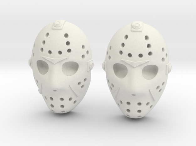 Jason Voorhees Mask lacelocks in White Natural Versatile Plastic