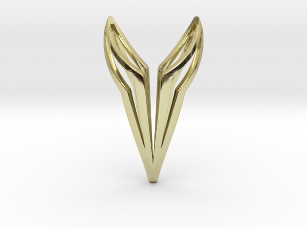 YOUNICAT Pendant, Bend in 18k Gold Plated