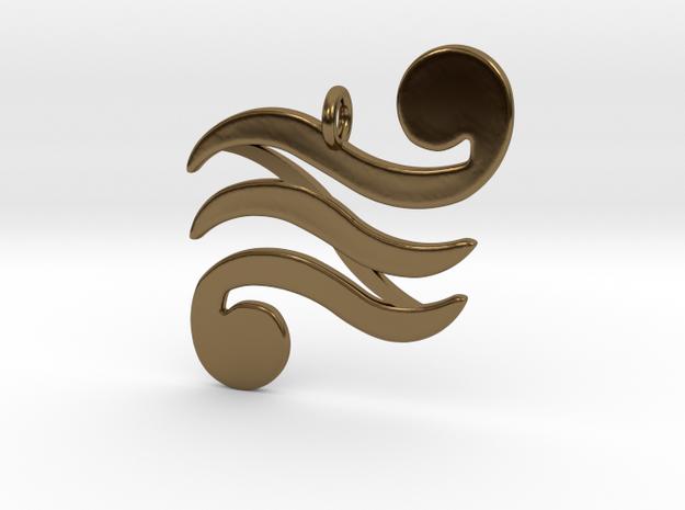 Din Pendant in Polished Bronze