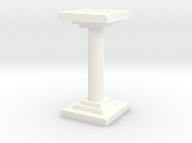 Pillar in White Strong & Flexible Polished