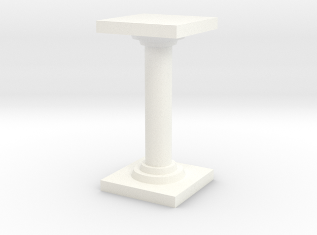 Pillar version 2 in White Strong & Flexible Polished