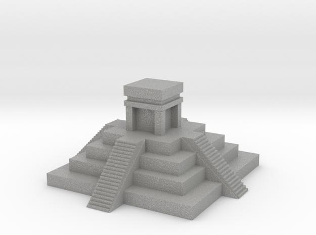 Aztec Pyramid Fixed in Raw Aluminum