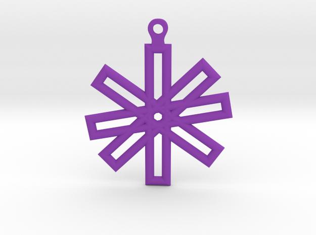 Sacred Geometry Earrings (Small) in Purple Processed Versatile Plastic