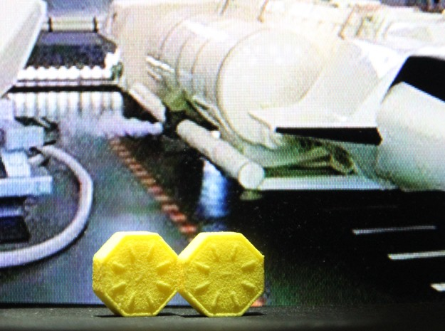 Crate Deck Accessory (V, The Visitors) in Yellow Processed Versatile Plastic: 1:72