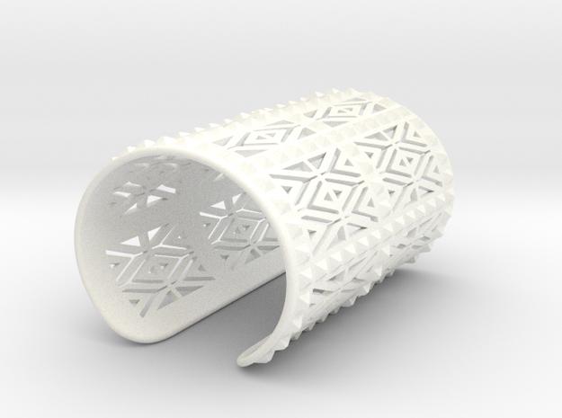 Mid Gauntlet Pattern 2  in White Processed Versatile Plastic