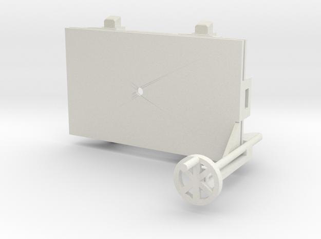 A-1-35-wagon-d-class-bogie-1a in White Natural Versatile Plastic