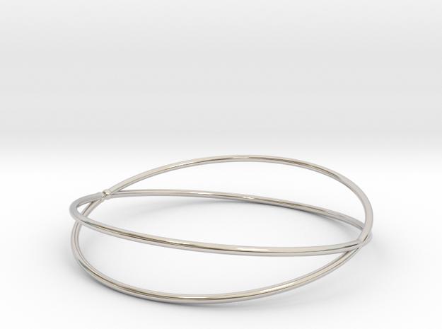 Space Bracelet Ø53 mm/Ø2.086 inch XS in Rhodium Plated