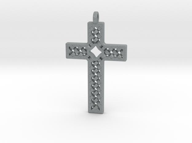 Criss Cross in Polished Metallic Plastic