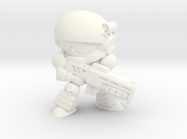 CORPORATION TROOPER (EYES RIGHT) in White Processed Versatile Plastic