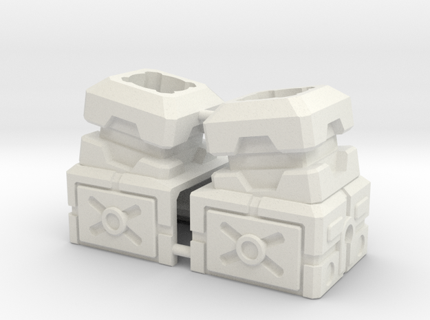 Combiner Port Extenders With Tilt in White Strong & Flexible