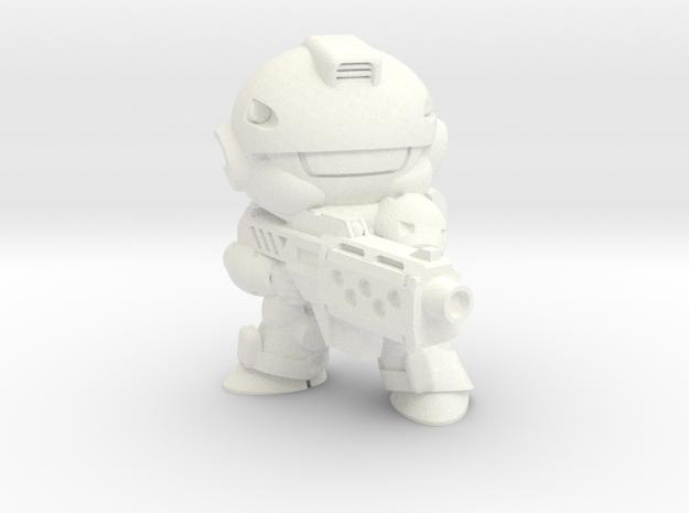 VIPER - MGUN - FIRING in White Strong & Flexible Polished