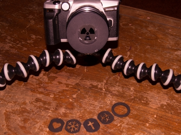 Photography Creative aperture set (fits over 72mm) 3d printed