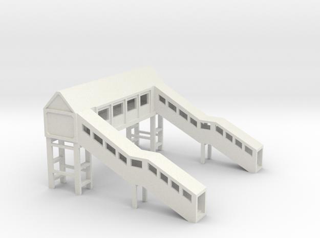 Footbridge 1:450 in White Natural Versatile Plastic