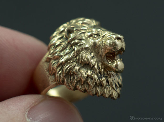 Aggressive Lion Ring