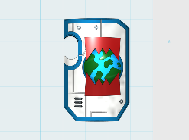 World Wreckers - Marine Boarding Shield w/Hand x10 in Frosted Ultra Detail