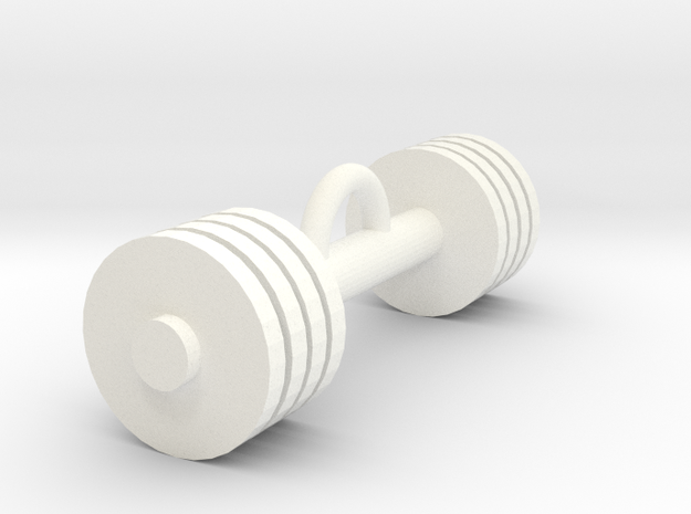 Gym weight pendant in White Processed Versatile Plastic