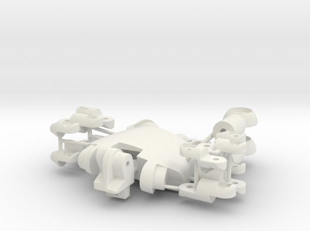 Hand Left in White Natural Versatile Plastic