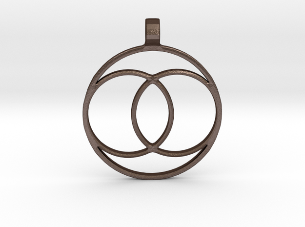 [The 100] Coalition Symbol Pendant in Matte Bronze Steel