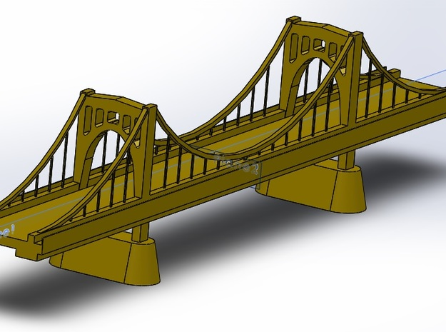 Roberto Clemente Bridge in Polished Gold Steel