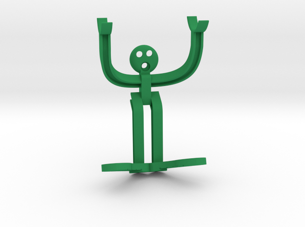 Razor Holder Man in Green Strong & Flexible Polished