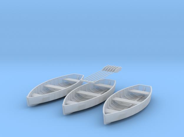 O scale Rowboat Set 3ea 6 Paddles