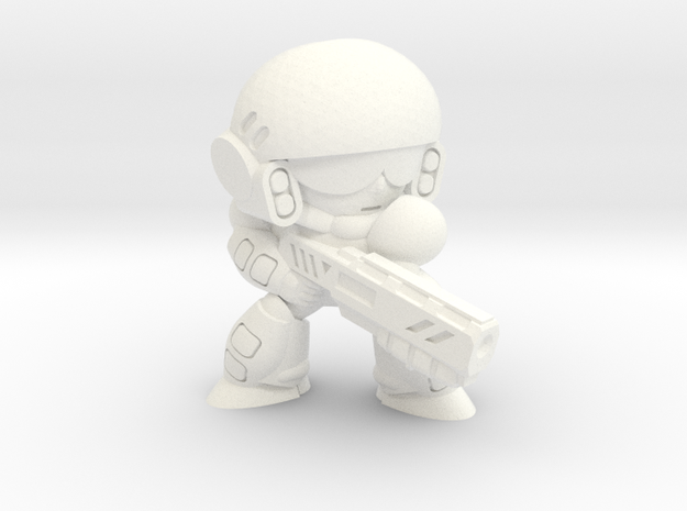 COLONIAL INFANTRY - SHOTGUN - EYES LEFT in White Processed Versatile Plastic