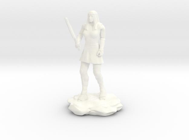 Amazon  Guard in Tunic with Sword in White Processed Versatile Plastic