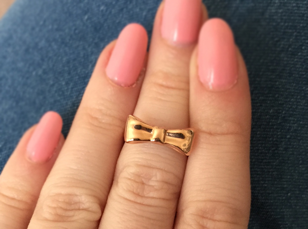 Bow Midi Ring in 14k Rose Gold Plated Brass