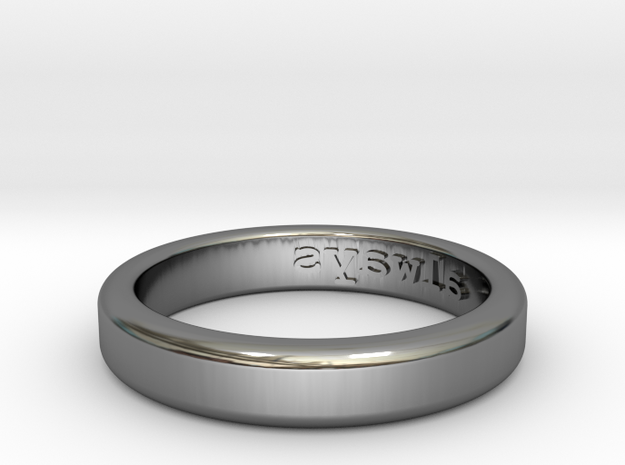 Always Ring - US Size 9 in Fine Detail Polished Silver
