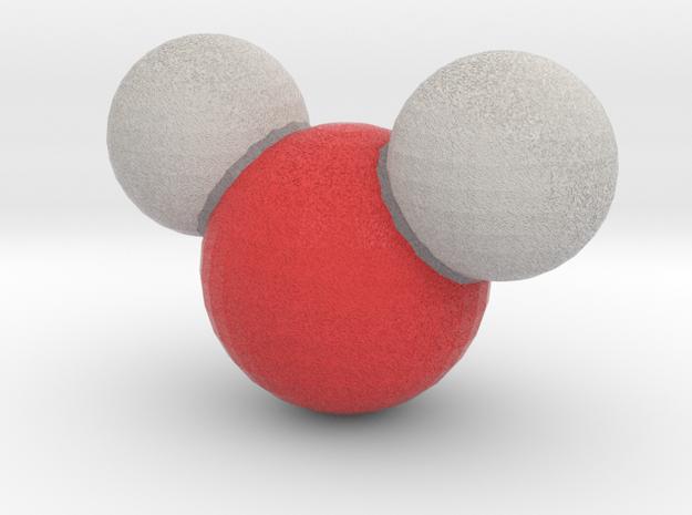Water (H2O) in Full Color Sandstone