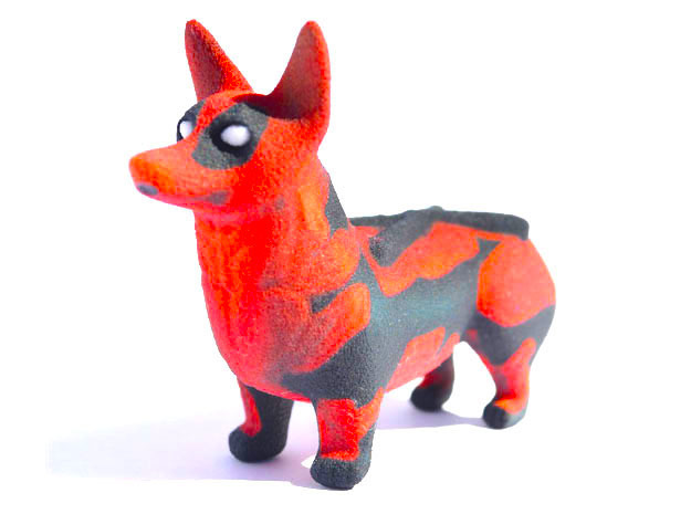 Deadpool Corgi in Full Color Sandstone