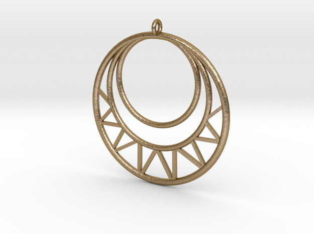 Circles Pendant in Polished Gold Steel
