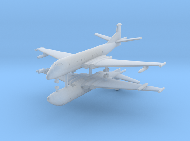 1/600 Hawker Siddeley Nimrod (x2) in Smooth Fine Detail Plastic