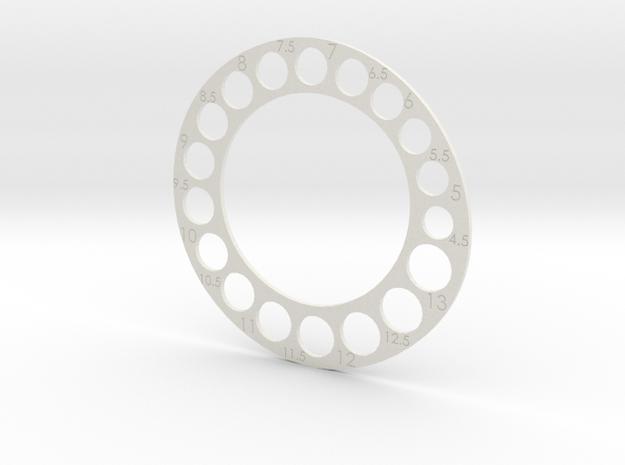 Ring Gauge Usa in White Natural Versatile Plastic