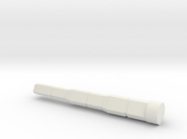 28mm Railgun in White Natural Versatile Plastic