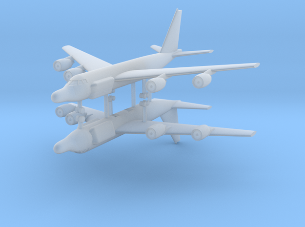 1/600 RC-135W Rivet Joint (x2) in Smooth Fine Detail Plastic